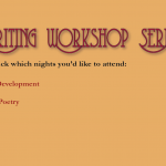 Creative Writing Workshop Series, Los Angeles, Fall 2014