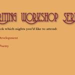 Creative Writing Workshop Series, Los Angeles, Fall 2014
