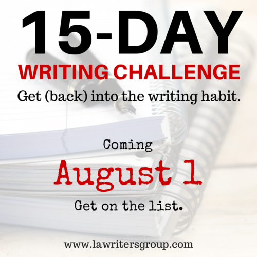 15-Day Writing Challenge | Los Angeles Writers Group