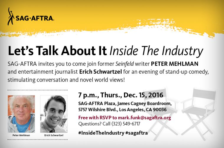 Free Event at SAG-AFTRA this Thursday!