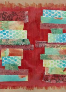 Art Journal Page by Nicole Criona - Dueling Cities