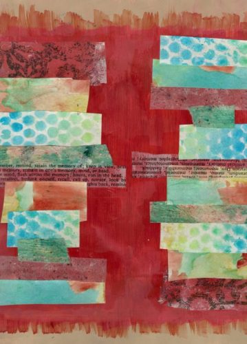 Art Journal Page by Nicole Criona – Dueling Cities