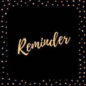 Discount Reminder