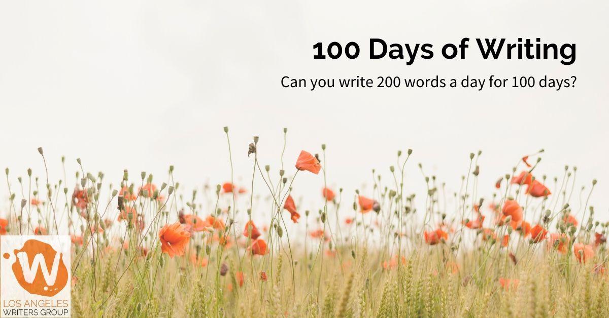 100 Days of Writing – Starts 01/01/20